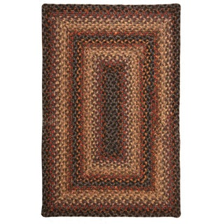 Eastwick Black Cotton Braided Rug (1'8 x 2'6)