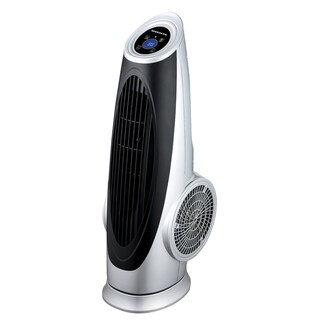Ovente Cool Breeze Tower Fan with Remote Control and LCD Panel