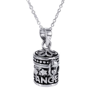 Dream Angel Prayer Box Locket .925 Sterling Silver Necklace (Thailand)