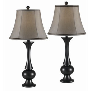 Lennox Metallic Bronze 2-piece Lamp Set