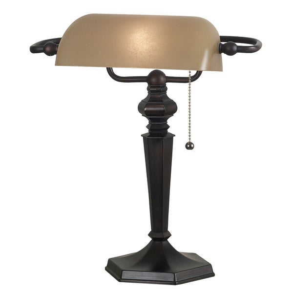 Custer Banker Bronze Desk Lamp