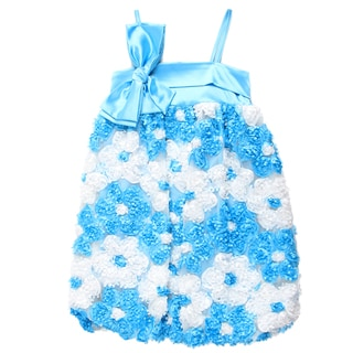 Pauline Collection Girls Mesh Bubble Dress with Bow