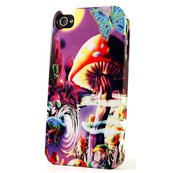 Purple Psycedelic Mushroom Dimensional Plastic iPhone Case