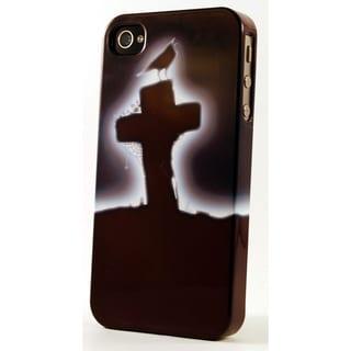 Black Raven/ Cross Gravesite 3D Plastic iPhone Case