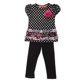 Funkyberry Girls' Chiffon Tunic and Legging Set