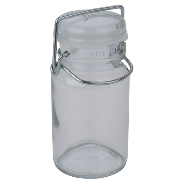 Miu France Round 8-ounce Locking Lid Clear Glass Jars (Set of 12)