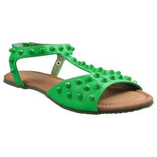 Refresh by Beston Women's 'Yotis' Flat T-strap Sandals