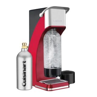 Cuisinart SMS-216R Red Sparkling Beverage Maker with 16-ounce CO2 Cartridge