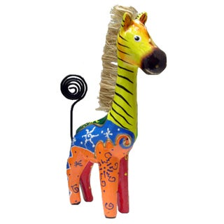 Hand-painted Zebra Photo Holder (Indonesia)