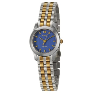 Rado Women's 'Diastar' Stainless Steel and Yellow Gold PVD Coated Swiss Quartz Watch