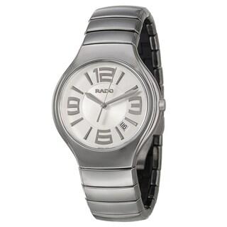 Rado Men's 'Rado True' Silvertone Ceramic Watch