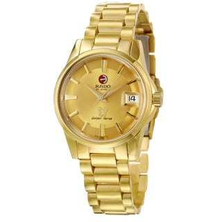 Rado Men's 'Golden Horse' Yellow Gold PVD Steel Swiss Automatic Watch