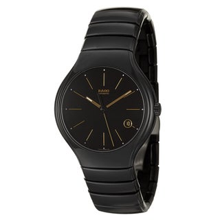 Rado Men's 'Rado True' Black Ceramic Automatic Watch with Black Dial