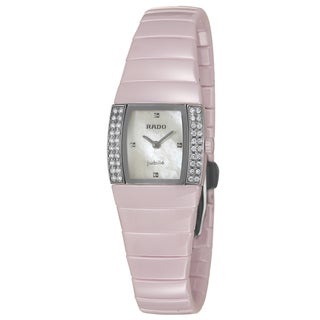 Rado Women's 'Sintra' Pink Ceramic Swiss Quartz Watch