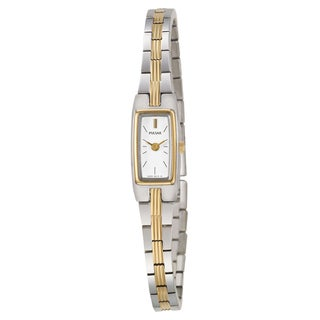 Pulsar Women's 'Jewelry' Stainless Steel Yellow Gold Plated Quartz Watch