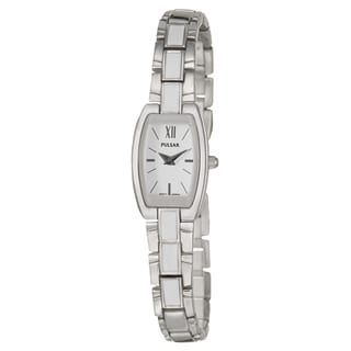 Pulsar Women's 'Dress' Stainless Steel White Quartz Watch