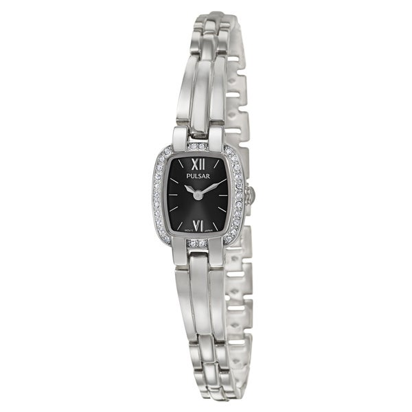 Pulsar Women's 'Crystal' Stainless Steel Quartz Watch