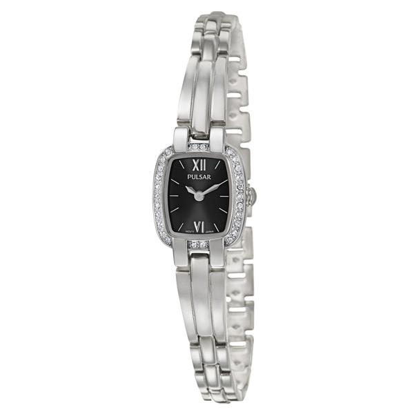 Pulsar Women's 'Crystal' Stainless Steel Quartz Watch