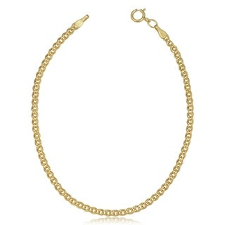 Fremada 10k Yellow Gold 2.4-mm Hollow Inner Link Bracelet