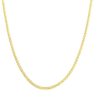 Fremada 10k Yellow Gold 2.4-mm Hollow Inner Link Necklace