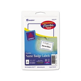 Avery Flexible Self-adhesive Laser/ Inkjet Name Badge Labels