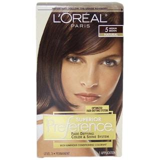L'Oreal Superior Preference Natural Medium Brown #5 Fade-Defying Hair Color