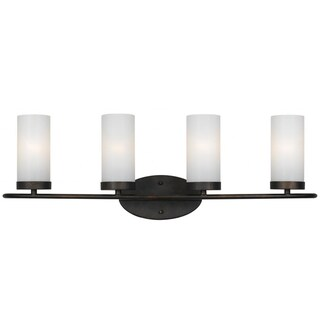 Cameron 4-light English Bronze Bath/ Vanity
