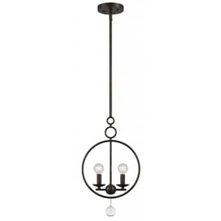 Cameron 2-light English Bronze Pendant