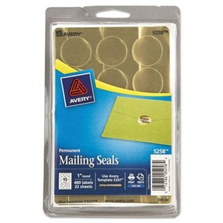 Avery 1-inch Round Metallic Seals
