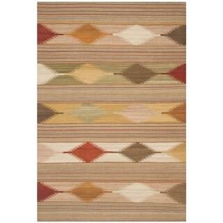 Safavieh Hand-woven Navajo Kilim Natural/ Multi Wool Rug (8' x 10')