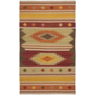 Safavieh Hand-woven Navajo Kilim Brown/ Multi Wool Rug (3' x 5')