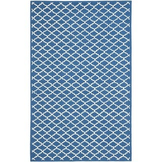 Safavieh Hand-hooked Newport Indigo/ Ivory Cotton Rug (8'6 x 11'6)