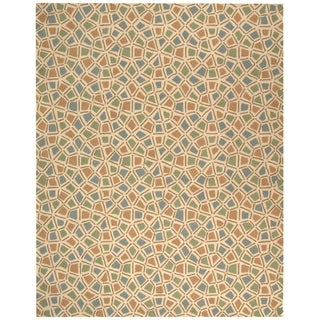 Safavieh Hand-hooked Newport Blue/ Green Cotton Rug (8'6 x 11'6)