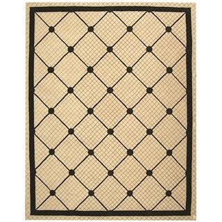 Safavieh Hand-hooked Newport Ivory/ Black Cotton Rug (8'6 x 11'6)