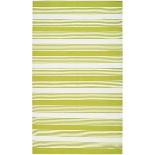 Thom Filicia Hand-woven Indoor/ Outdoor Green Rug (8' x 10')