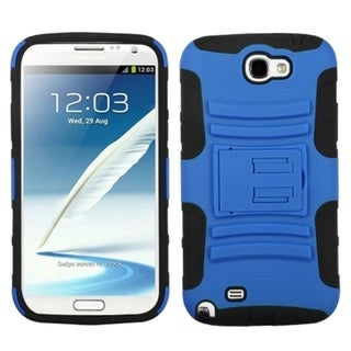 ASMYNA Blue/ Black Armor Case for Samsung Galaxy Note 2 T889/ I605