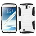 ASMYNA White/ Black Armor Case for Samsung Galaxy Note 2 T889/ I605