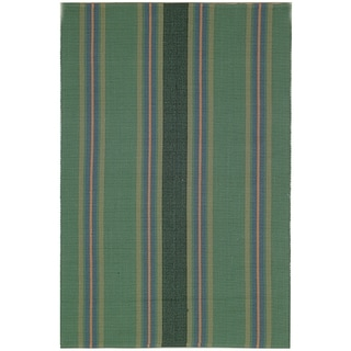 Safavieh Hand-woven Penfield Green/ Olive Cotton Rug (5' x 8')
