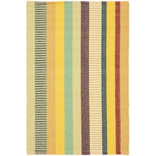 Safavieh Hand-woven Penfield Yellow/ Multi Cotton Rug (2' x 3')