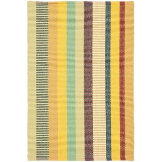 Safavieh Hand-woven Penfield Yellow/ Multi Cotton Rug (3' x 5')