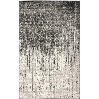Safavieh Retro Black Grey Rug 8 9 X 12