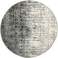 Safavieh Retro Black/ Grey Rug (8' x 8' Round)