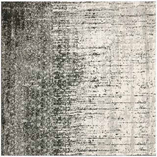 Safavieh Retro Black and Light Grey Rug (8' Square)