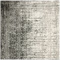 Safavieh Retro Black/ Grey Rug (8' x 8' Square)