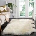 Safavieh Hand-woven Sheepskin White Rug (3' x 5')
