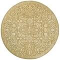 Safavieh Handmade Silk Road Ivory Wool/ Viscose Rug (6' x 6' Round)