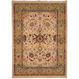 Safavieh Stately Home Ivory/ Gold New Zealand Wool Area Rug (9' x 12')
