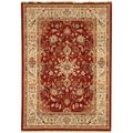 Transitional Safavieh Stately Home Red/Ivory New Zealand Wool Rug (9' x 12')