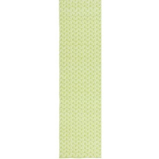 Thom Filicia Hand-woven Indoor/ Outdoor Key Lime Rug (2' x 12')