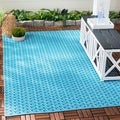 Thom Filicia Hand-woven Indoor/ Outdoor Summer/ Blue Rug (2' x 12')